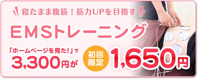 EMSトレーニング1650円